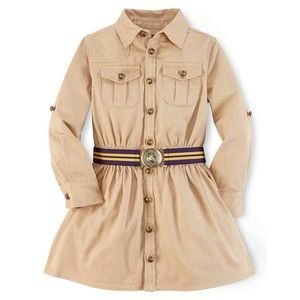 Ralph Lauren Khaki Cargo Shirt Dress Button Down